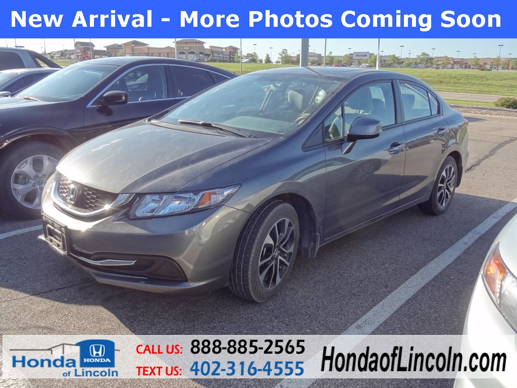 Certified used 2013 honda civic ex 4d sedan near omaha for Certified used honda civic